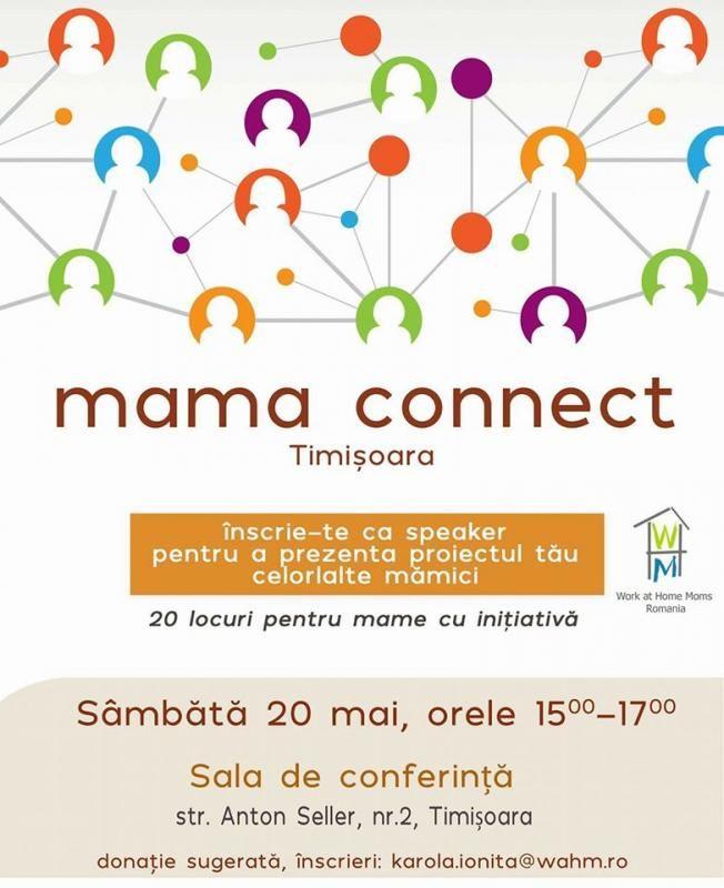 Ieşim din mediul virtual şi vă aşteptăm la o nouă întâlnire Mama connect, să ne cunoaştem, să schimbăm idei şi experienţe. Donație liberă care se folosește pentru viitoare evenimente și proiecte. Data: 20 mai. Ora: 15-17