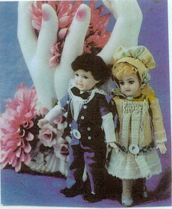 "4""ANTIQUE ALL BISQUE DOLL BOY&GIRL DRESS/UNDIES&SHOES&HAT PANTS&JACKET PATTERN"