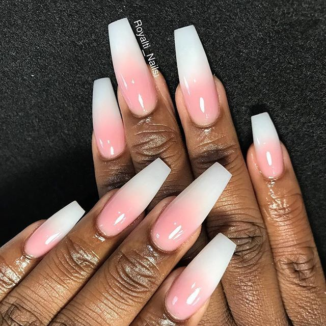 #Repost @royalti_nails1 ・・・ 'Ombré pink & white acrylic Foundation @ - 260 Best Pink And White Nails Images On Pinterest White Nails