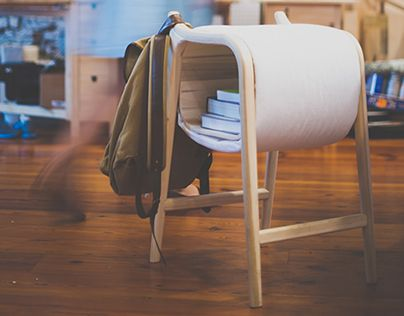 Meet Rigsbee, The Stool That Has A Place For Your Bags, Books, And