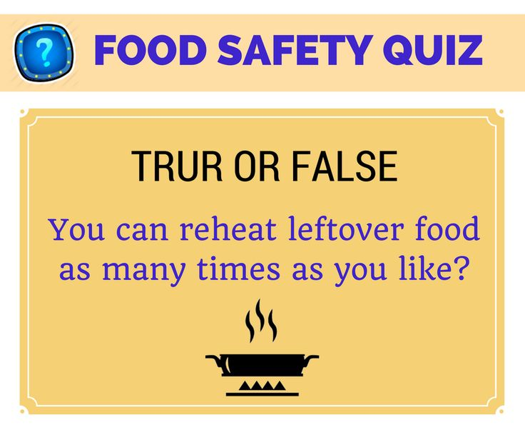 Food Safety Quiz True or False? Share in comments #FoodSafety