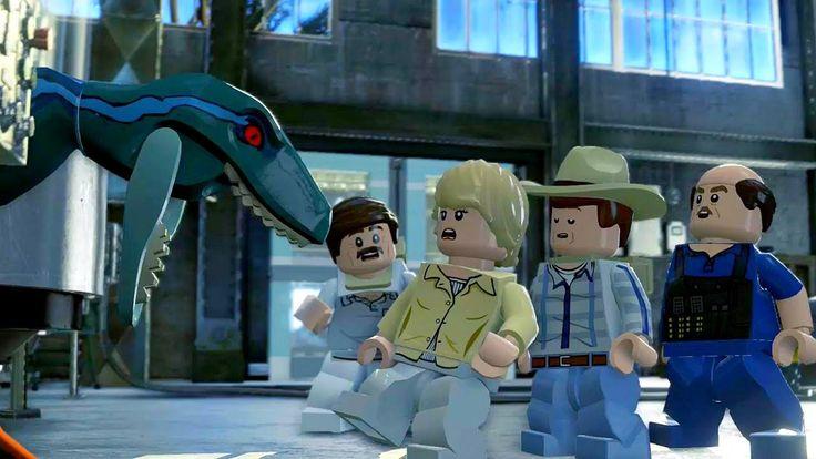LEGO Jurassic World Прохождение.Динозавры на Заводе.Игры про Динозавров....