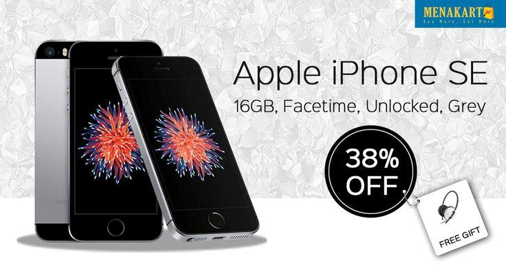 Apple iPhone SE - 16GB, Facetime, Unlocked, Grey #Apple #iPhone #Online #Shopping #Menakart