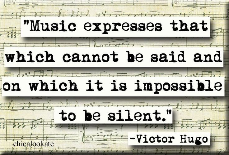 Victor Hugo Music Quote Magnet or Pocket Mirror (no.301)