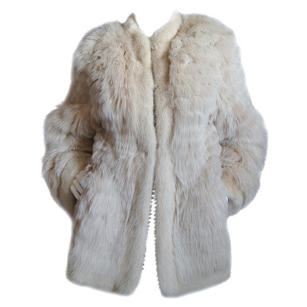 1970s YSL Feathered Fox Fur Jacket ($500-5000) found on Polyvore