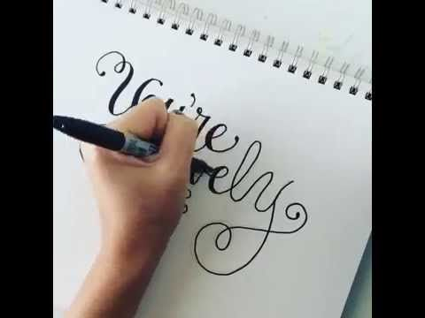 How To Do Cheater Calligraphy | Dawn Nicole Designs®