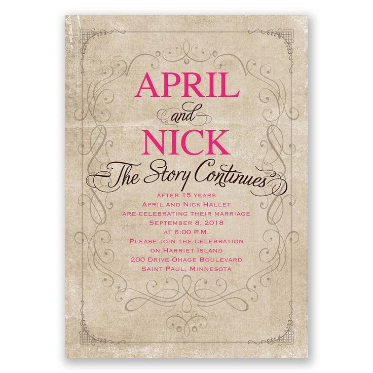 19 best Wedding Vow Renewal Invitations images on Pinterest Happy