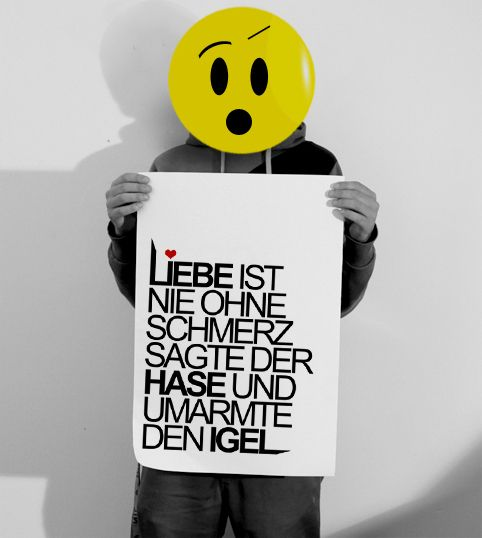 Typo Print   liebe & schmerz von claus-peter-2