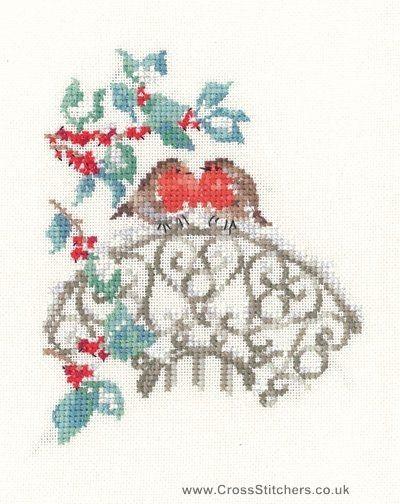 Наставникам - Робинс - Сью Хилл Коллекция Cross Stitch Kit от наследия ремесел