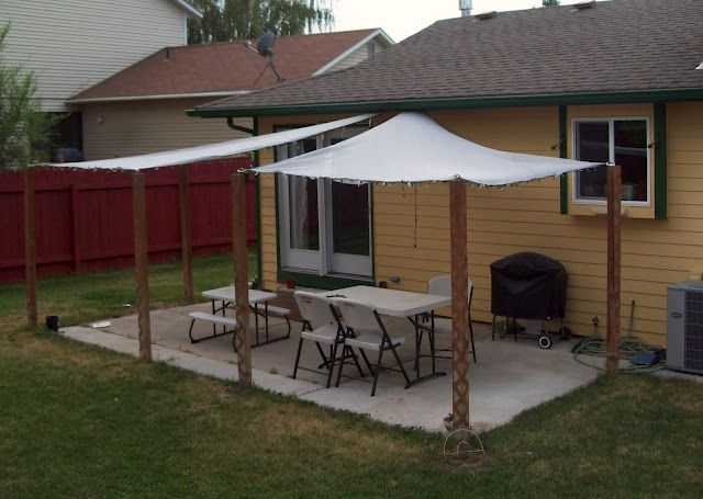 133 best outdoor ideas images on pinterest | backyard ideas ... - Patio Shade Cloth Ideas
