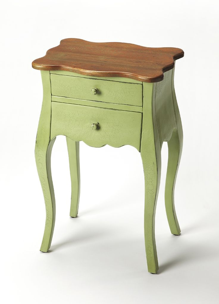 Briarton End Table in Green/Mahogany | Butler Specialty Company Furniture | Home Gallery Stores