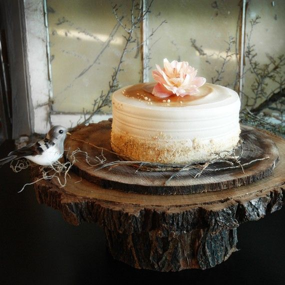 Rustic Tin Cake Stands For Wedding Cakes