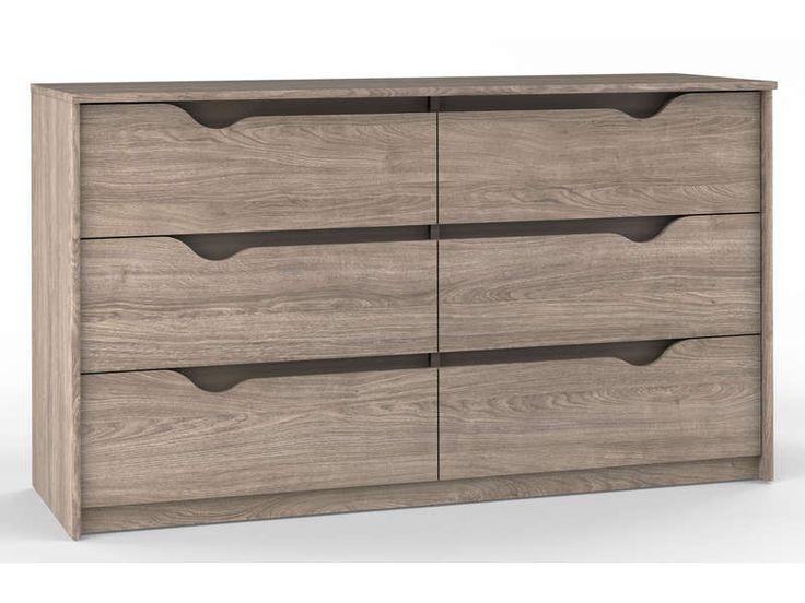 Commode conforama blanche best commode tiroirs quadra for Chambre quadra noisette
