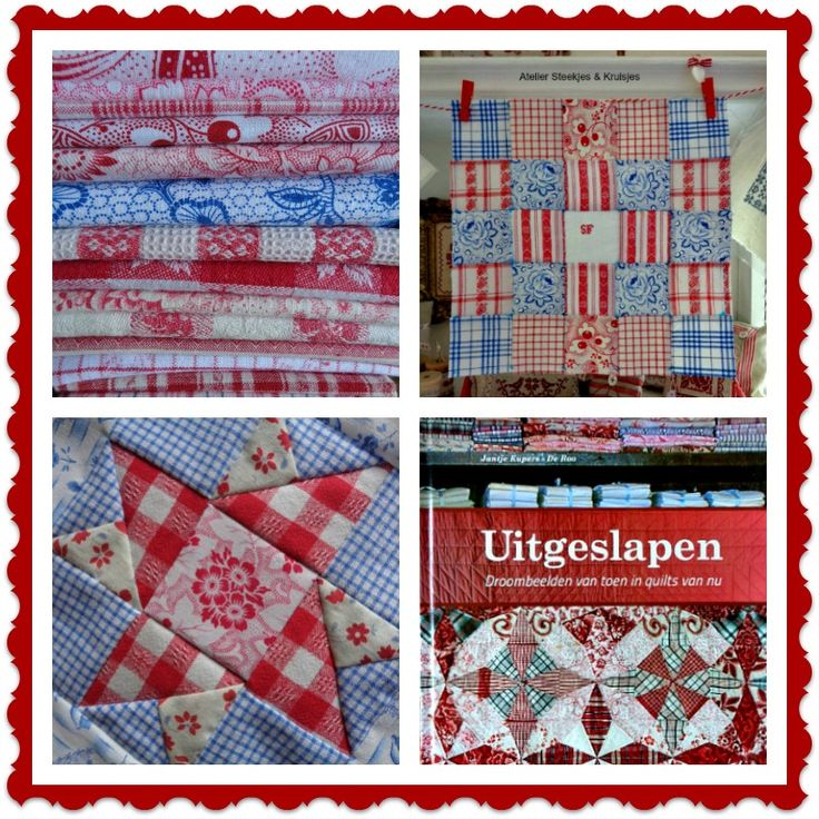 Working on my quilt from vintage Dutch fabrics