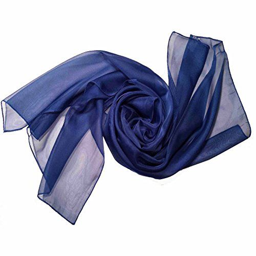 From 2.49 Plain Chiffon Scarf Lovely Colour (royal Blue)
