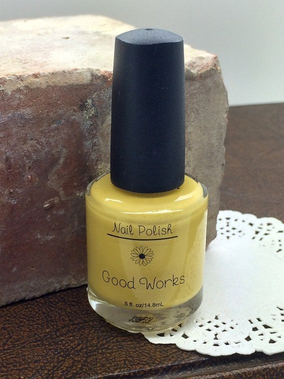 Young Women Values Nail Polish GOOD WORKS Yellow YW Values Nail Polish - Nail Polish Personal Progress incentives gift ideas activity idea