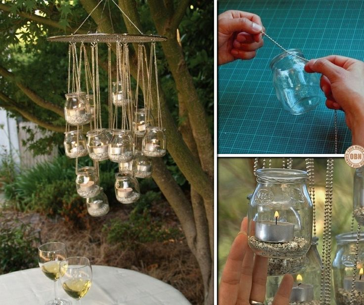 instructions to make a mason jar chandelier