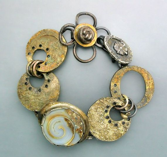 Keum Boo and Labradorite Bracelet by Temi Kucinski