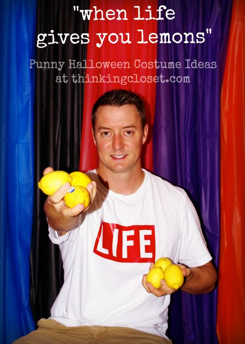 20 MORE Punny Halloween Costume Ideas | this year, we thought it would be fun to embrace the Punny Halloween Costume theme again, especially since we decided to throw a Costume Party! I scoured my round-up from last year of 20 Punny Halloween Costumes…and boy were there some knee-slappers in the bunch! But I wanted something new, something fresh, something extra clever! And here's what we came up with!