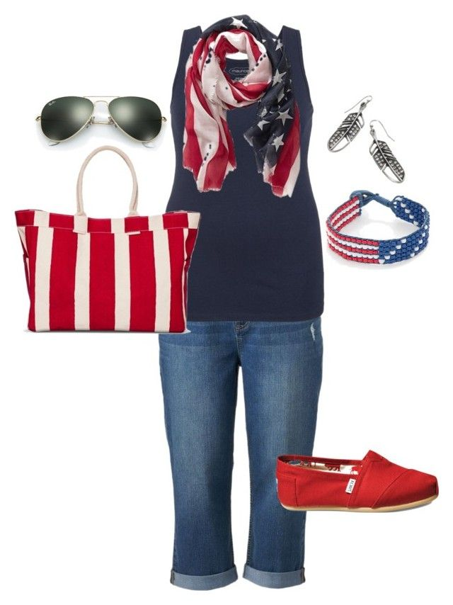 """""""Plus Size Summer Outfit- Americana"""" by jmc6115 on Polyvore"""