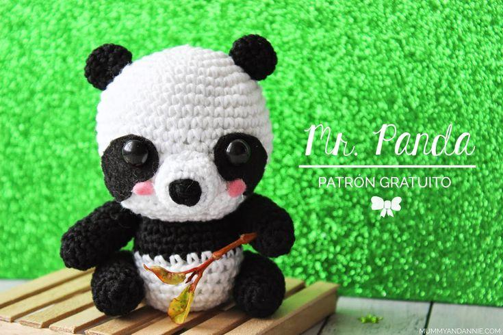 """Oso Panda Amigurumi - Patrón Gratis en Español - Formato en PDF click """" ¡¡¡DESCARGAR PATRÓN!!!"""" al final del post y click en descarga directa  (no hace falta ser de Dropbox)"""