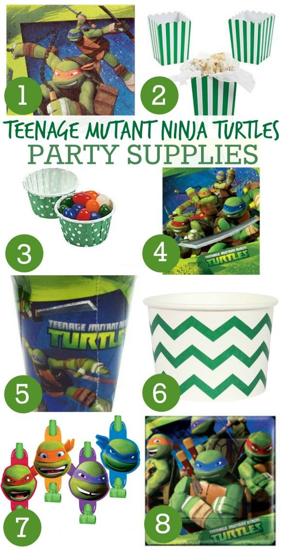 Awesome Teenage Mutant Ninja Turtle Party Supplies! See more party ideas and party supplies at CatchMyParty.com!