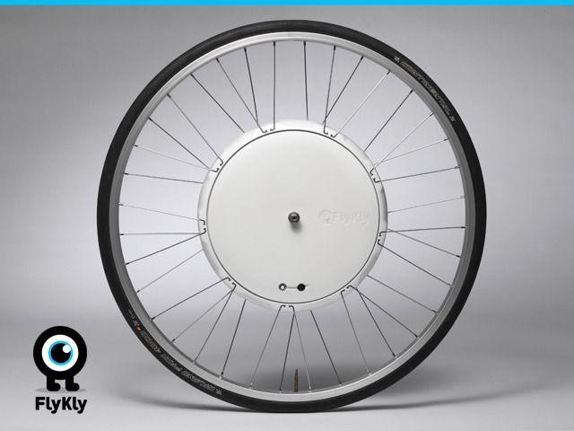 FlyKly Smart Wheel by FlyKly — Kickstarter. Turns any bike into a hybrid bike.
