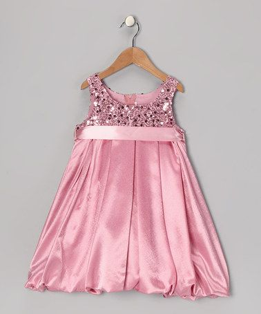 Pink Sequin Bubble Dress Toddler Amp Girls Special
