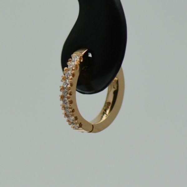 Cercei 18k aur roz cu diamante