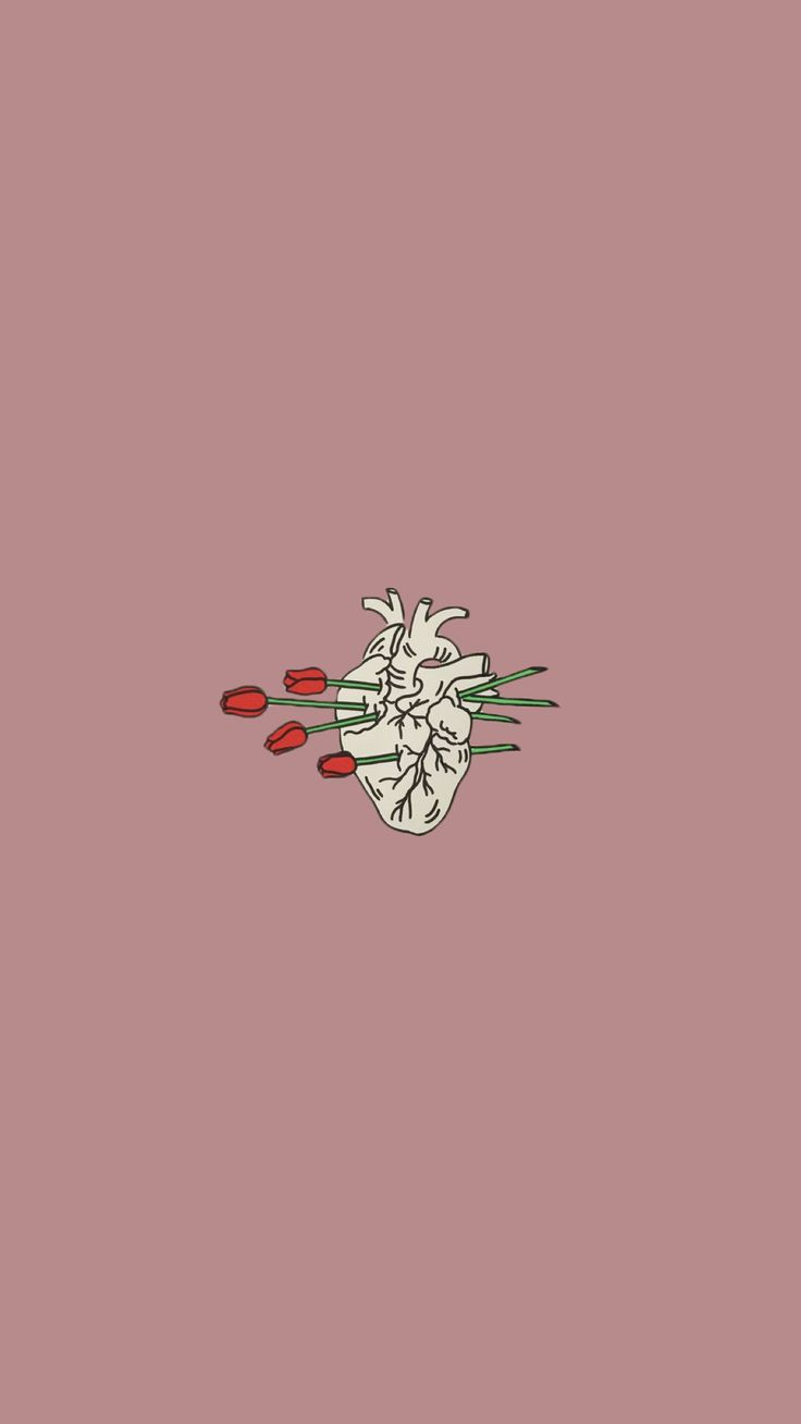 Heart as a flower wallpaper | made by Laurette | instagram:@laurette_evonen