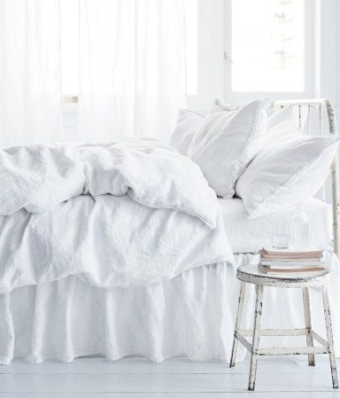 The dreamiest white bedroom.