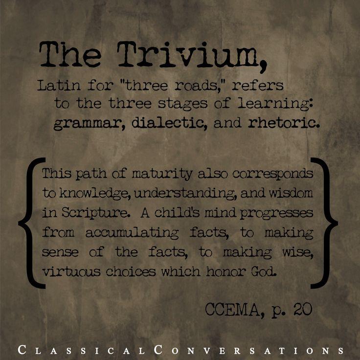 The Trivium #homeschool
