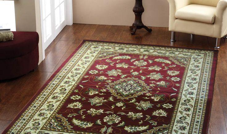 tappeto rosso disegno classico persiano