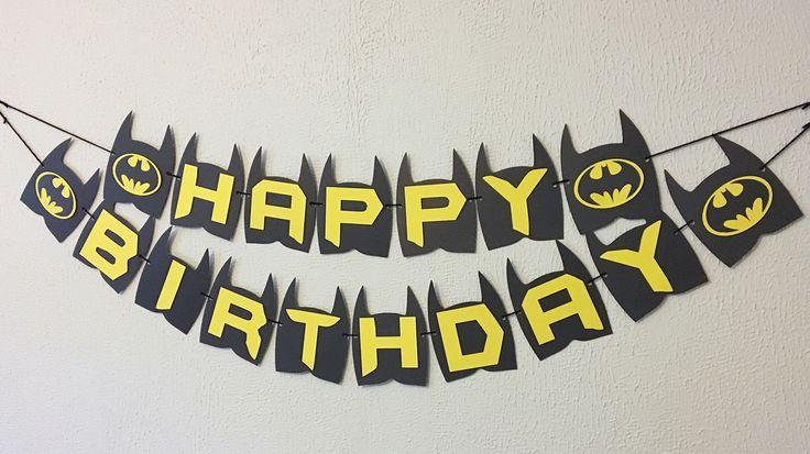 Batman Birthday Banner  Batman Party  Batman Theme  Batman