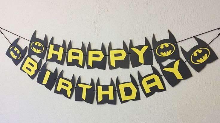 Batman Birthday Banner  Batman Party  Batman Theme  Batman