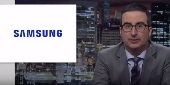 Samsung brutally mocked by John Oliver     - CNET Technically Incorrect offers a slightly twisted take on the tech thats taken over our lives.  Enlarge Image  More explosive stuff?                                                      Last Week Tonight screenshot by Chris Matyszczyk/CNET                                                  Wasnt it enough when President Obama mocked Samsung and its exploding Note 7?   It seems not.   The jokes about Samsung products malfunctioning continued on…