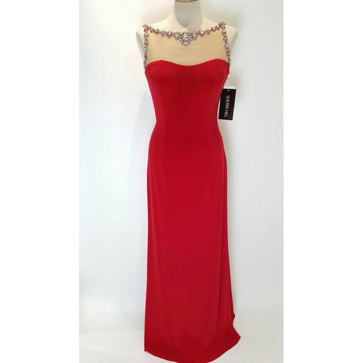 Red Eevning Dresses Cheap Long 11303 2016 Evening Wear Sheer Neck Beaded Floor Length Elegant Fashion Party Pageant Prom Gown Formal Dress Cheap Evening Dress Cheap Plus Size Evening Dresses From Yoyobridal, $98.8| Dhgate.Com