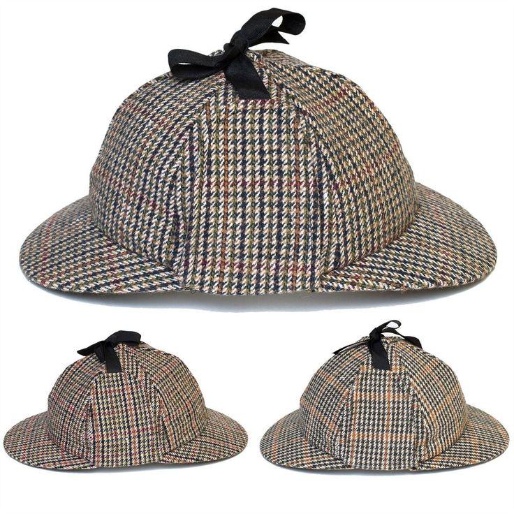 Classic Mens Women Deerstalker Sherlock Holmes Detective Fancy Dress Hat Cap New #d2dHats #SherlockHolmes