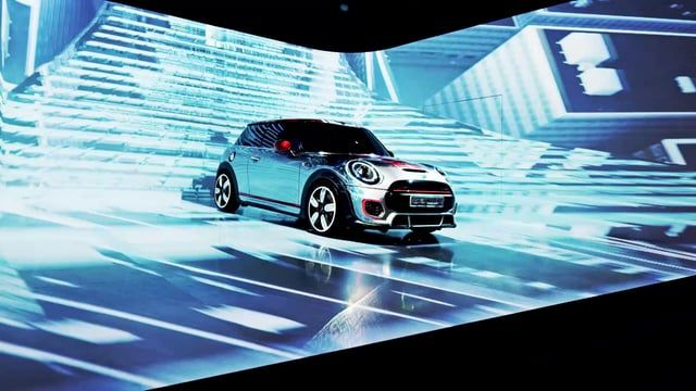 During the International Mini Dealer Experience 2014 in Madrid, Spain, for the preview of the new John Cooper Works Mini model, Visual Drugstore created an immersive 3D video installation.