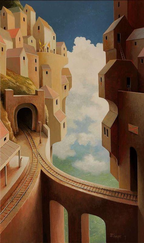 """""""Vroeg vertrek"""" (""""Early departure""""), by Michiel Schrijver."""