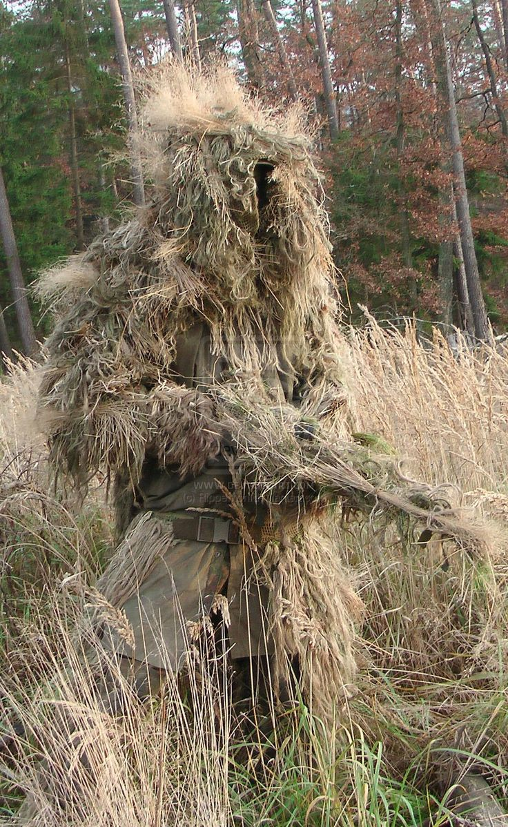 Ghillie Suit - might be a bit too hot in this one but, it sure has certain 'desert-yeti' appeal...