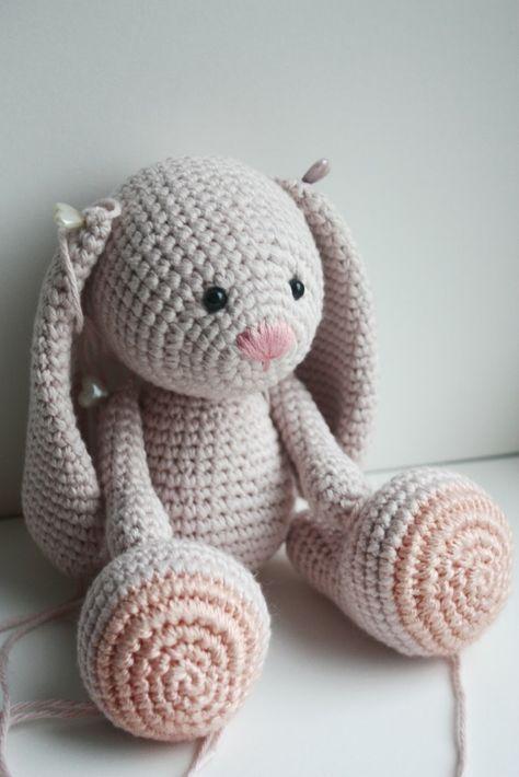 Amigurumi Häkeln Hase Schlappohren Osterhase Stricken Crochet