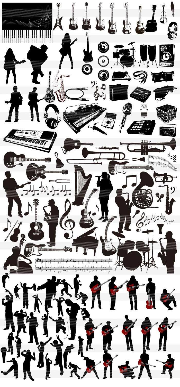 ミュージシャンのシルエット
