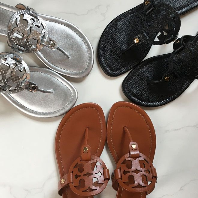 Tory Burch Promo | Miller Sandals York Totes On Sale! - The Double Take  Girls