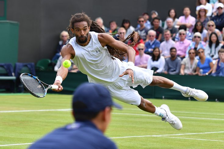 Dustin diving...!!!  #DustinBrown #Wimbledon2016 #tennis The Championships, Wimbledon 2016 - Official Site by IBM