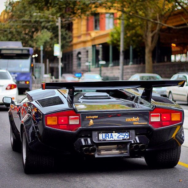 Old School Cool - Lamborghini Countach. What kid growing up in the 80's didn't dream about this car.