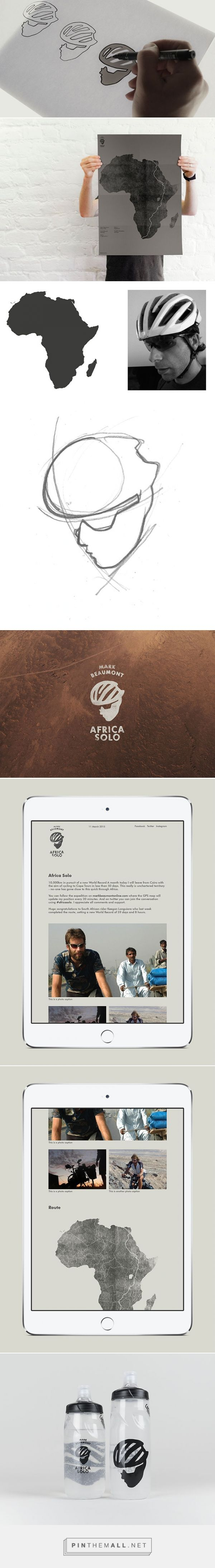 Love this conceptual logo design idea. Thought through, simple and great application!   Africa Solo | Logo Design Love - created via http://pinthemall.net