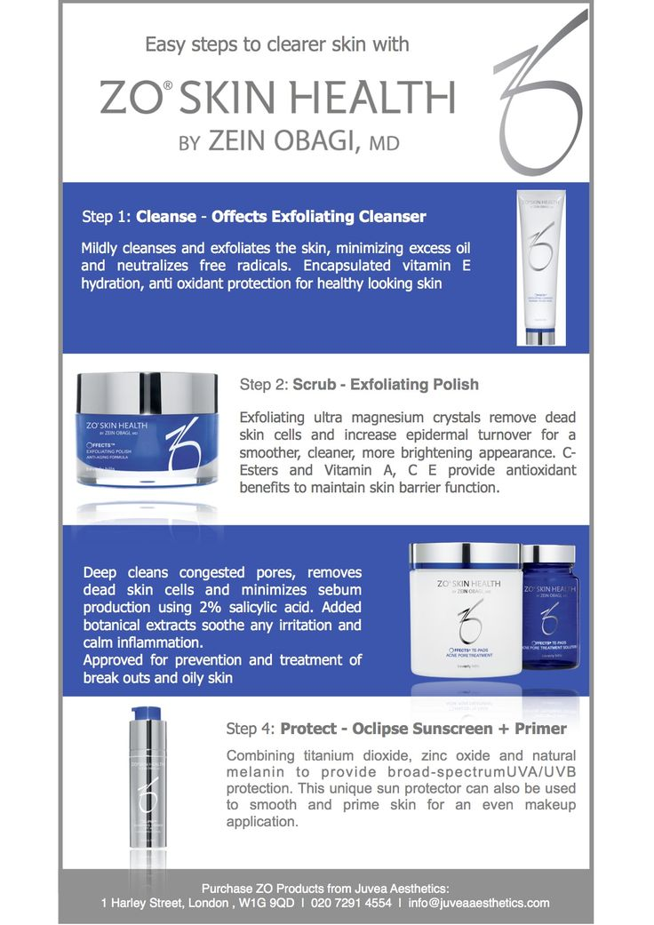 Easy Steps To Clearer Skin With ZO Skin Health skincare