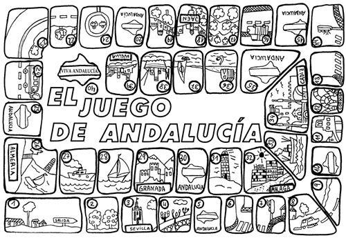 día de Andalucía juego para imprimir | Jugar y colorear