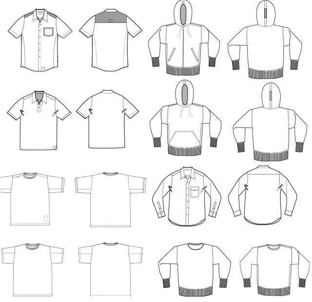 Tee Shirt Design Template Illustrator: Ultimate Vector T-shirt Template Pack